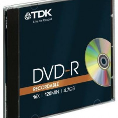 DVD-R TDK 16X 4, 7GB jewel case bulk
