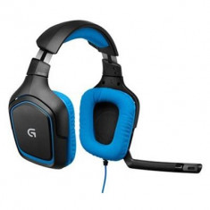 Casti Gaming Logitech G430 Negru-Albastru Pc - Casca PC Logitech, Casti cu microfon, USB