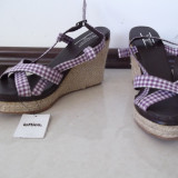 Sandale LEFTIES by zara 40, talpa ortopedica sfoara lila cu alb, noi cu eticheta