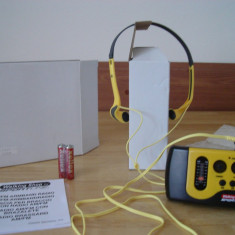 Walkman SPORTLINE AM-FM radio portabil (set de 2 bucati NOI)