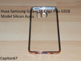 Husa Samsung Galaxy S6 Edge Plus G928 Model Silicon Auriu