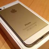 iPhone 5S Apple 16gb auriu impecabil + bonus folie sticla fata si spate / oferta, Neblocat