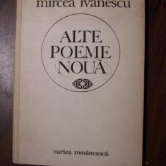 Alte poeme noua - Mircea Ivanescu (prima editie, 1986) - Carte Editie princeps
