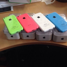 IPhone 5c 8GB  impecabile in cutie albastru, Smartphone, Neblocat, Apple