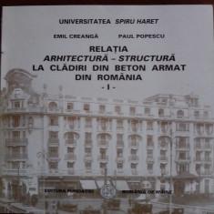4 carti arhitectura - Emil Creanga / C6P - Carte Arhitectura