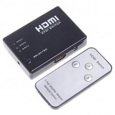 Spliter splitter HDMI 3 Porturi 1080P cu telecomanda Video Switch HD DVD DVR