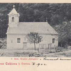 CICLOVA ORAVITA - BANAT SALUTARI DIN CICLOVA MANASTIREA CALUGARA CIRC.MAI'902 - Carte Postala Banat pana la 1904, Circulata, Printata
