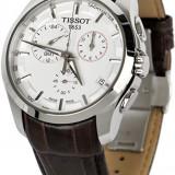 Ceas barbatesc Tissot Couturier GMT ecran alb, Lux - sport, Quartz, Inox, Cronograf, Analog