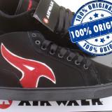 Adidasi barbat Airwalk Atlantic Mid - ghete skate - adidasi originali - in cutie - Adidasi barbati Airwalk, Marime: 43, 44.5, 46, Culoare: Negru, Piele intoarsa
