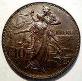 C.292 ITALIA VITTORIO EMANUELE III 50 ANI ANIVERSARE REGAT 10 CENTESIMI 1911 R, Europa, Cupru (arama)