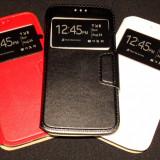 Husa Protectie Toc Flip Cover Samsung Galaxy S6 Edge - Husa Telefon Samsung, Negru, Piele Ecologica, Cu clapeta