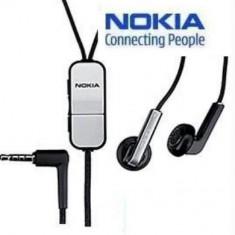 Handsfree Nokia HS-43 negru pentru Nokia 2730, 5230, 5310 XM, 5320 XM, 5630 XM, 6120, 6303c, 6303 Betty Barclay, 6720c, E72, E75, N76, N78, N79, N81,