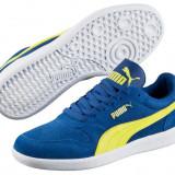 Puma Icra - Nr.38.5 = 24.5 cm - Piele Intoarsa - Adidasi barbati Puma, Culoare: Albastru