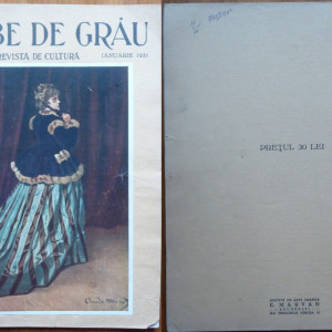 Boabe de grau ; Revista de cultura , Ianuarie , 1931 , an 2 , Voronet , Simu