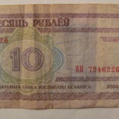 CY - 10 ruble 2000 Belarus - bancnota europa