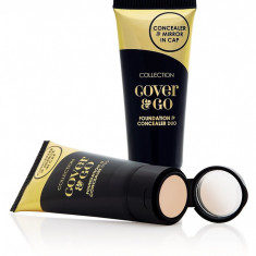 Fond de ten Alta Marca SI CORECTOR COLLECTION 2000 COVER & GO FOUNDATION & CONCEALER IVORY, Lichid
