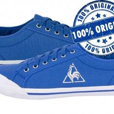 Adidasi dama Le Coq Sportif Deauville - tenisi originali - adidasi panza, Culoare: Albastru, Marime: 36, Textil