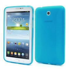 Husa silicon albastra (EPC) pentru tableta Samsung Galaxy Tab 3 P3200 (SM-T211) / P3210 (SM-T210) - Husa Tableta Huawei