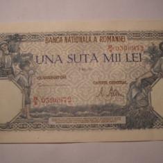 100000 lei 1947 Mai XF ++ - Bancnota romaneasca
