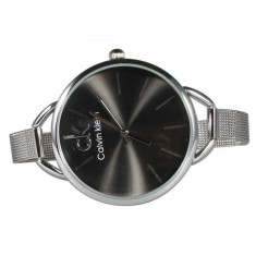 Ceas dama Calvin Klein, Silver-Black Edition, Otel, Analog
