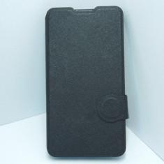 Husa tip carte cu neagra (cu decupaj difuzor) pentru telefon Microsoft Lumia 640 - Husa Telefon