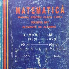 MATEMATICA MANUAL PENTRU CLASA A XII-a M1- ELEMENTE DE ALGEBRA -Mircea Ganga