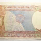 2 rupees 1985 India - bancnota asia