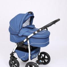 Carucior copii 3 in 1 Baby-Merc Q9 (blue jeans), Pliabil, Gri, Maner reversibil