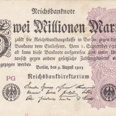 GERMANIA 2.000.000 marci 9 august 1923 VF+++!!! - bancnota europa