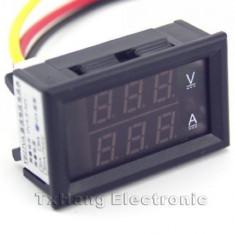 DC 4.5-30V 0-50A Dual LED Digital Volt meter Ammeter Voltage (FS00922)