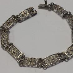 Bratara Argint filigran VIENEZA 1900 finuta VECHE vintage DELICATA de EFECT