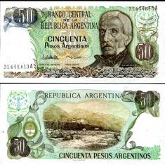 ARGENTINA- 50 PESOS 1983- UNC!! - bancnota america
