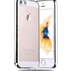 Iphone 5 5S 5SE - Husa Slim 0.3mm Silicon Argintiu Silver - Husa Telefon Apple, iPhone 5/5S/SE