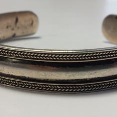 Bratara argint TRIBALA lata VECHE reglabila SPLENDIDA vintage executata manual
