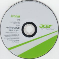 Recovery DVD - Windows 8 / Office 2013 pentru Tableta ACER Iconia W3-810