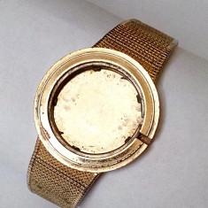 Omega 18k 0.750 carcasa cu bratara placata cu aur - Piese Ceas