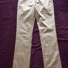 Pantaloni dama SISLEY, mas. 42, Culoare: Bej, Lungi, Bumbac