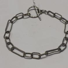 Bratara Argint cu zale executata manual Finuta Delicata de Efect Vintage
