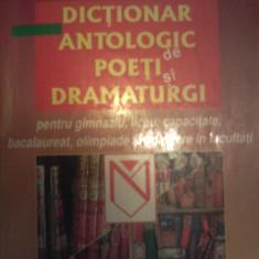 Dictionar antologic de poeti si dramaturgi - gimnaziu, liceu,bac,adm  facultate, Niculescu