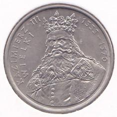 Moneda Polonia 100 Zloti 1987 - KM#167 UNC ( comemorativa - Kazimierz III ), Europa