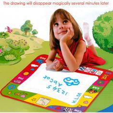 Covoras de desenat 80x60 copii - Aqua Doodle Mat - Scrie cu apa !! - Jucarie interactiva, Unisex