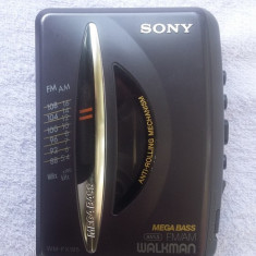 WALKMAN, SONY WM FX-195, MEGA BASS FM/AM, FUNCTIONEAZA - Casetofon