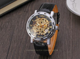 Cumpara ieftin Ceas Barbati Winner Imperial Mecanic Exclusive Edition GOLD, Black 6 Culori, Fashion, Mecanic-Automatic, Inox, Geneva