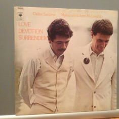 SANTANA/MAHAVISHNU/J.McLAUGHLIN - LOVE DEVOTION...(1973/CBS/HOLLAND) -Vinil/JAZZ - Muzica Jazz Columbia