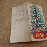 Meniu pentru Revelion 1956