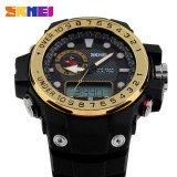 Cumpara ieftin Ceas Subacvatic Sport SKMEI S-Shock Round Dual Time Japan MVT ALARMA | GARANTIE