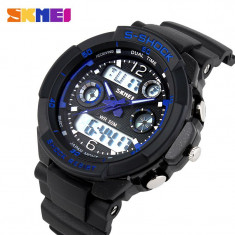 Ceas SUBACVATIC SKMEI S-Shock Sport Alarma Calendar ETC DUAL TIME | GARANTIE, Quartz, Inox