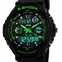 Ceas SUBACVATIC SKMEI S-Shock Sport Alarma Calendar ETC DUAL TIME | GARANTIE - Ceas barbatesc, Quartz, Inox, Cauciuc, Rezistent la apa