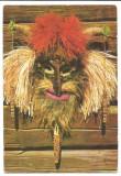 @carte postala(ilustrata) -ACIN -Masca groteasca de Bob Calinescu, Necirculata, Printata