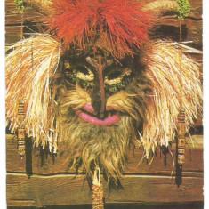 @carte postala(ilustrata) -ACIN -Masca groteasca de Bob Calinescu